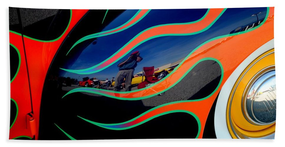 Photo Beach Towel featuring the photograph Self Shot by Frozen in Time Fine Art Photography