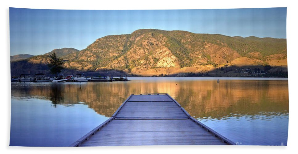 Lake Beach Towel featuring the photograph September 1st At Skaha Lake by Tara Turner