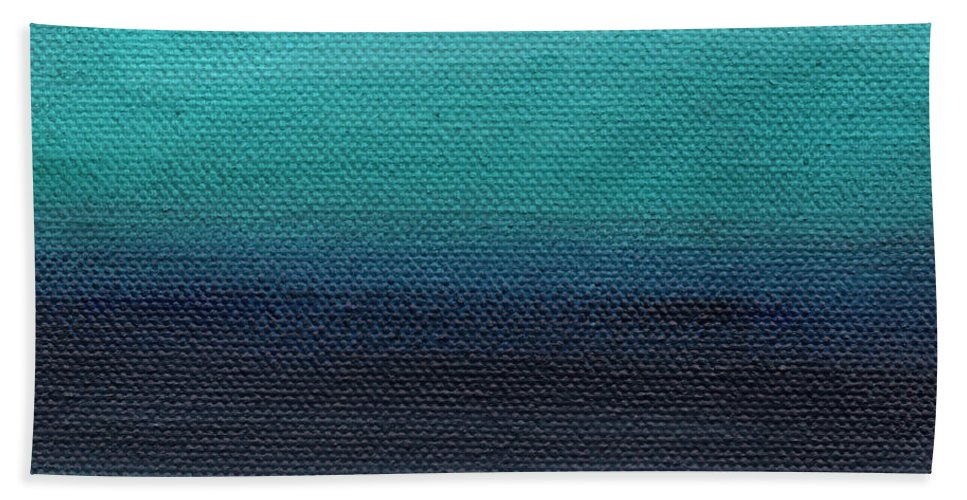 Beach Beach Towel featuring the painting Serenity- Abstract Landscape by Linda Woods