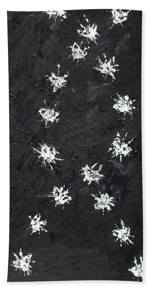 Fly Beach Towel featuring the painting Seventeen Flies Flying - Oil Painting by Fabrizio Cassetta