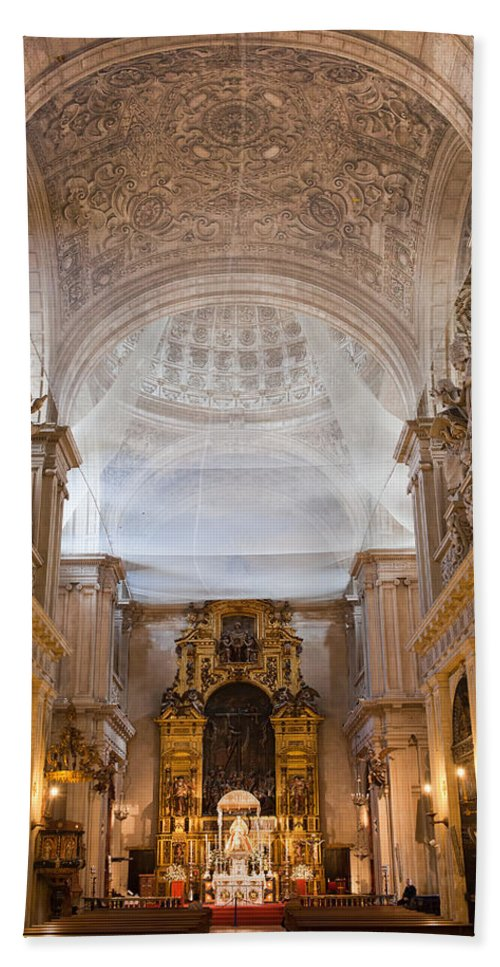 Seville Beach Towel featuring the photograph Seville Cathedral Interior by Artur Bogacki