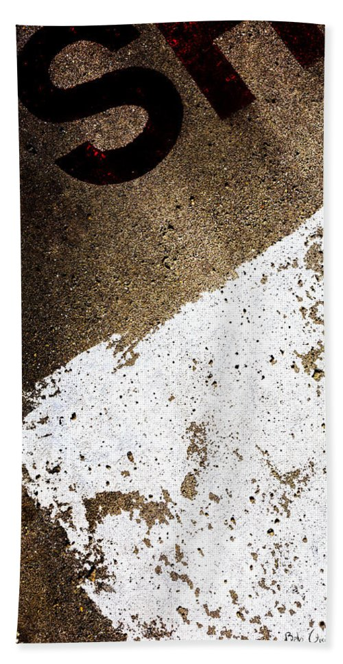 Abstract Beach Towel featuring the photograph SH by Bob Orsillo