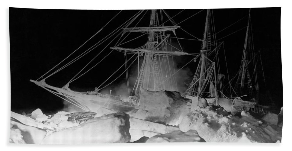 1910's Beach Towel featuring the photograph Shackleton's Ship, Endurance by Underwood Archives