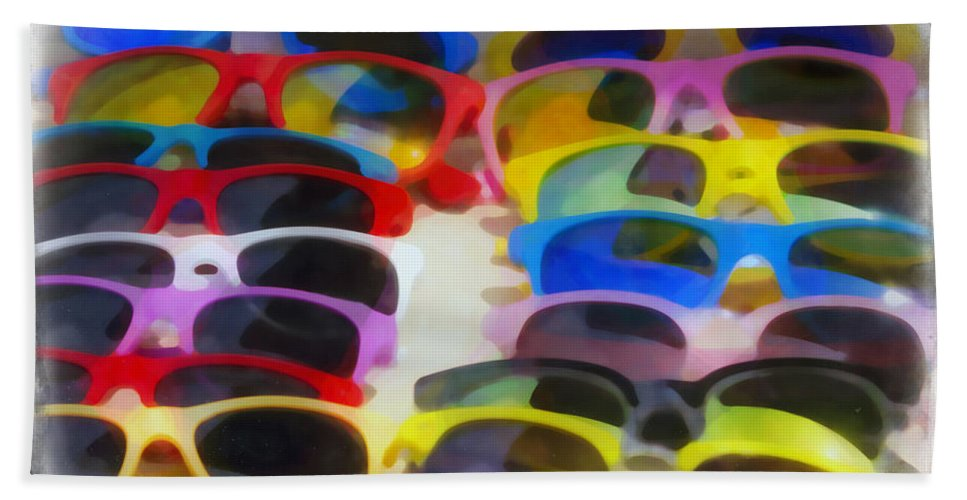 Abstract Beach Towel featuring the photograph Shades Of Shades by Hal Halli