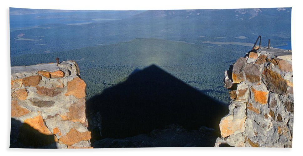 Shadow Beach Towel featuring the photograph M-05715-shadow Of Mt. Mcloughlin by Ed Cooper Photography
