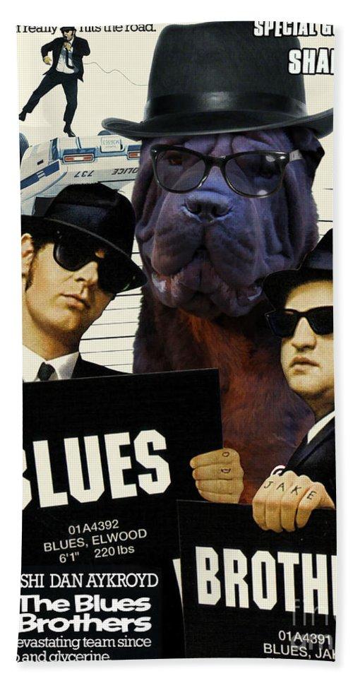 0b415de566d Shar Pei Art Canvas Print - The Blues Brothers Movie Poster Beach Sheet for  Sale by Sandra Sij