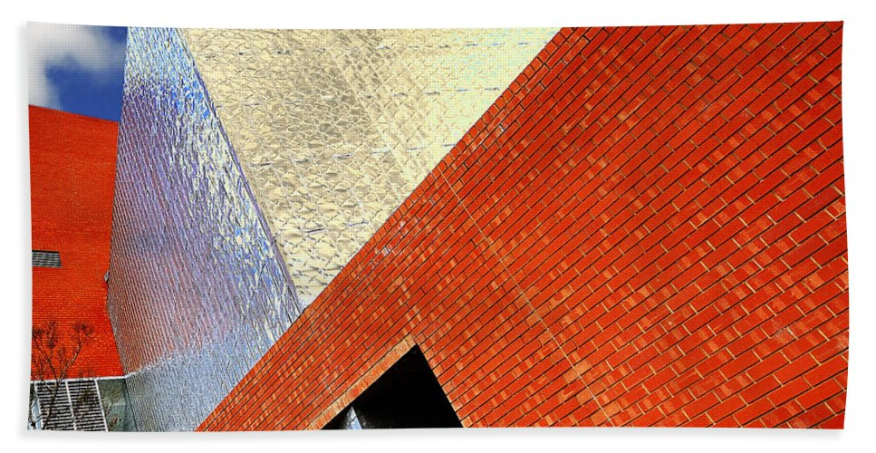Architecture Beach Towel featuring the photograph Sharps by Wayne Sherriff