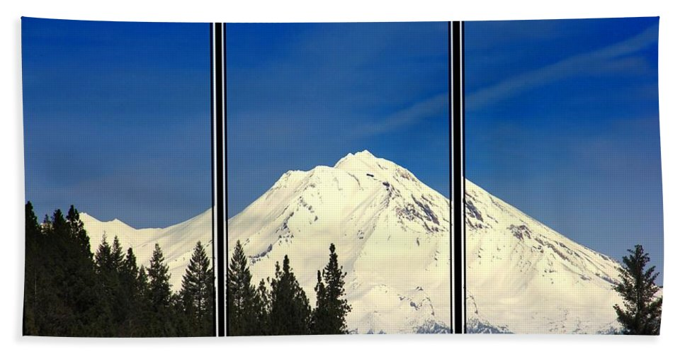 Mountain Beach Towel featuring the photograph Shasta by Athala Bruckner