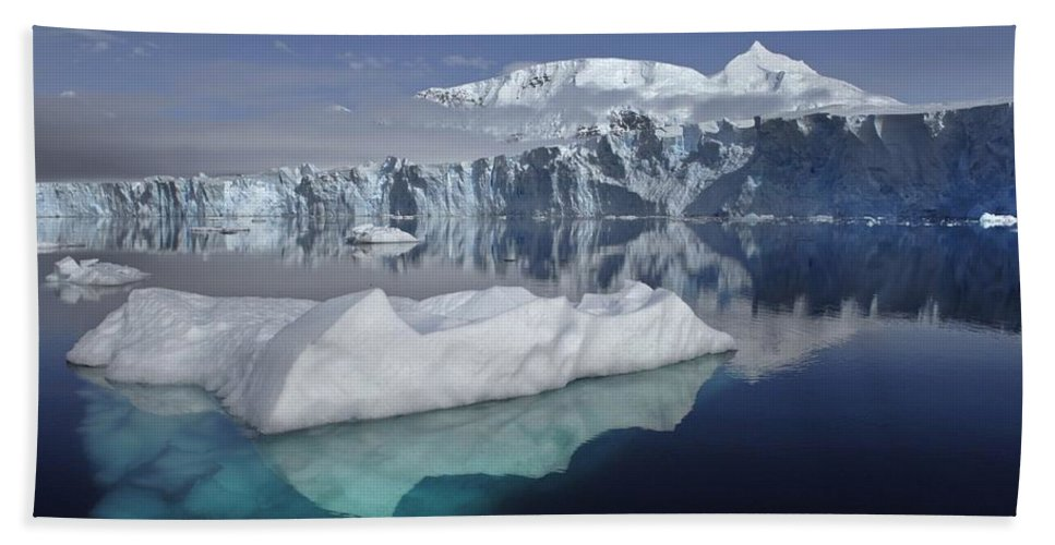 Sheldon Glacier Beach Towel featuring the photograph Sheldon Glacier by Movie Poster Prints