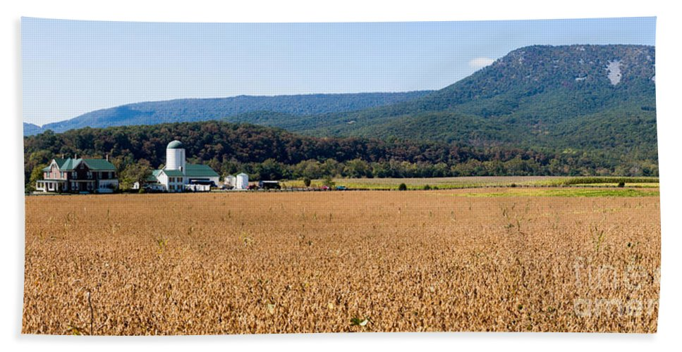 Farm Beach Towel featuring the photograph Shenandoah Valley Panorama by Thomas Marchessault