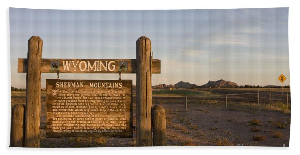 Wyoming Beach Towel featuring the photograph Sherman Mountains Wyoming by Jason O Watson