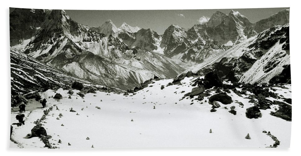 Black And White Beach Towel featuring the photograph Inspiration by Shaun Higson