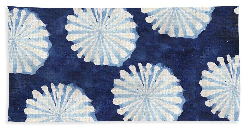 Shibori Beach Towel featuring the digital art Shibori IIi by Elizabeth Medley
