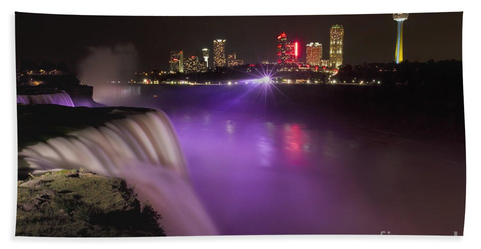 Niagara Beach Towel featuring the photograph Shine On Brightly by Evelina Kremsdorf