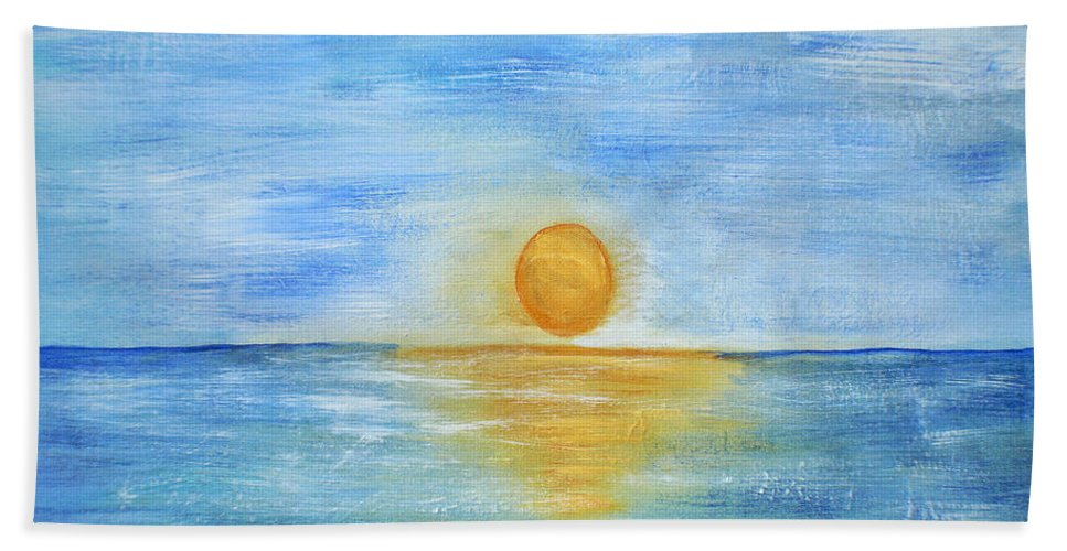 Acrylic Painting Beach Towel featuring the painting Shine On by Sherry Allen