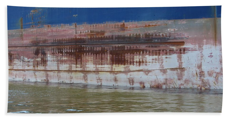 Ship Beach Towel featuring the photograph Ship Rust 4 by Anita Burgermeister
