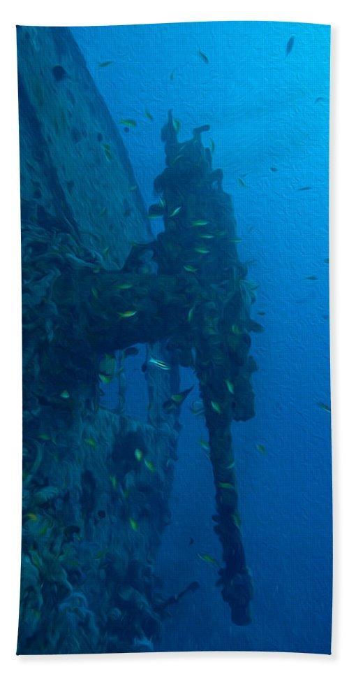 Thistlegorm Beach Towel featuring the digital art Small Artillery On A Ship Wreck by Roy Pedersen