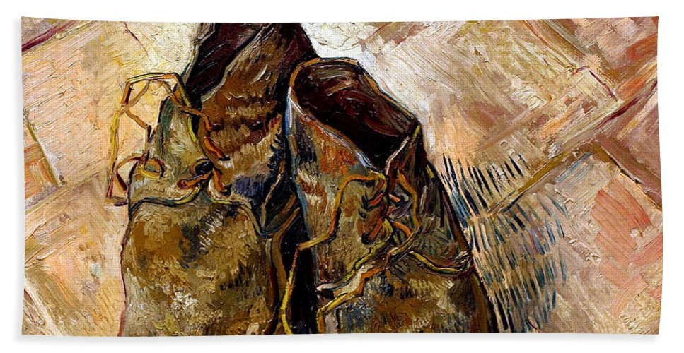 4084b9addf Shoes Beach Sheet for Sale by Vincent van Gogh