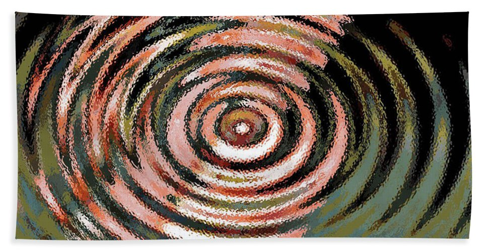 Digital Art Abstract Beach Towel featuring the digital art Shoot For The Moon by Yael VanGruber