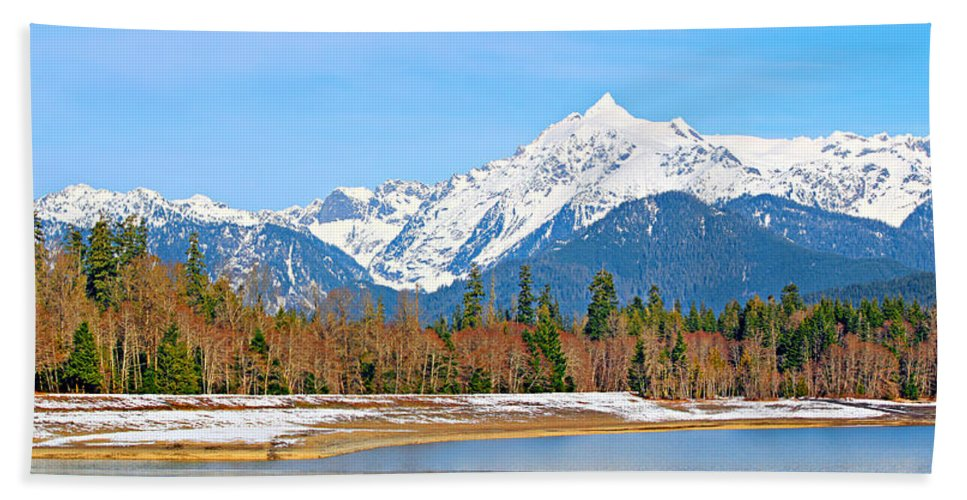 Alpine Beach Towel featuring the photograph Shuksan by Paul Fell