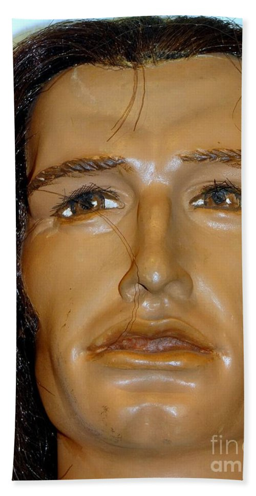 Mannequins Beach Towel featuring the photograph Sideburns Sal by Ed Weidman