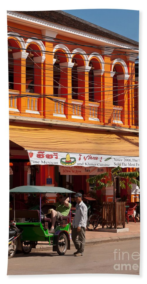 Cambodia Beach Towel featuring the photograph Siem Reap 01 by Rick Piper Photography