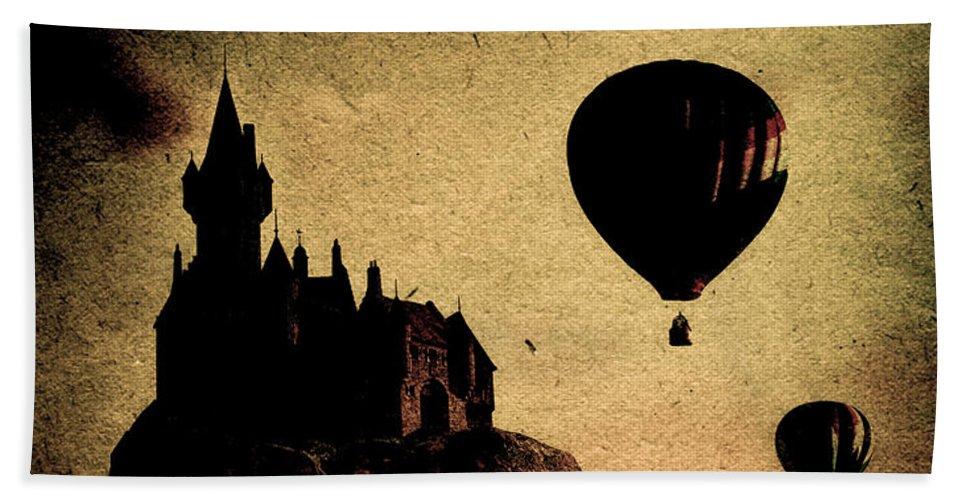 Castle Beach Towel featuring the photograph Silent Journey by Bob Orsillo