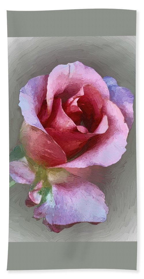 Floral Beach Towel featuring the painting Silk And Satin by RC DeWinter