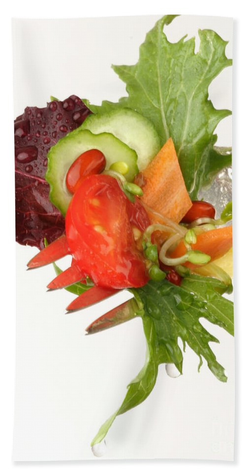 Salad Beach Towel featuring the photograph Silver Salad Fork by Iris Richardson