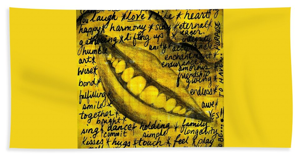 Beautiful Beach Towel featuring the photograph Simply Smile and your golden virtues will be written all over you by Artist RiA