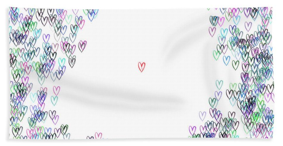 Abstract Beach Towel featuring the digital art Single IIi ... by Tim Fillingim