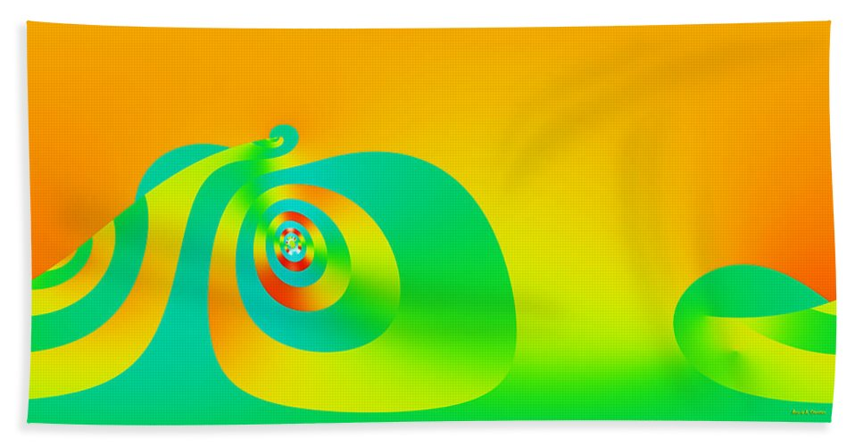 Modern Beach Towel featuring the digital art Sisyphus by Angela Stanton