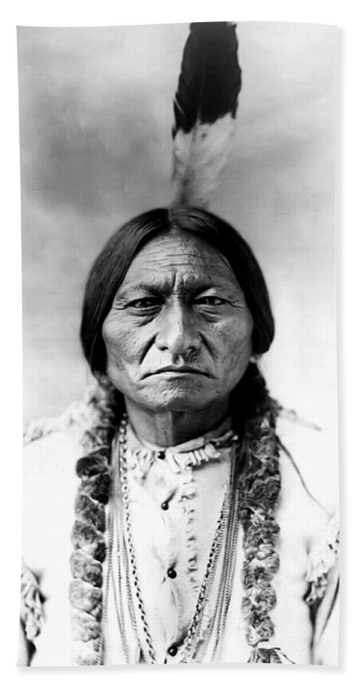 Sitting Bull Beach Towel featuring the photograph Sitting Bull by Bill Cannon