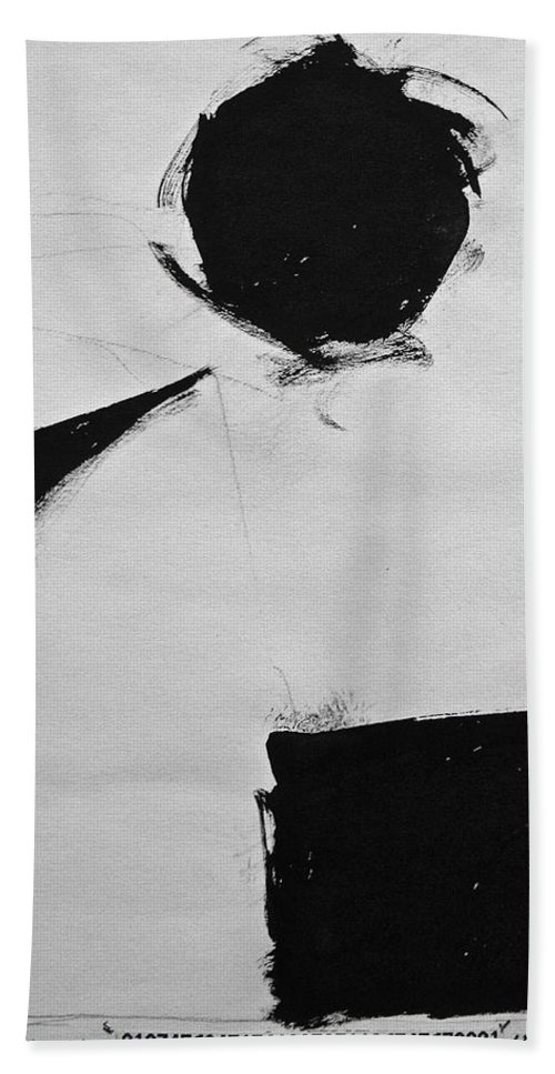 Abstract Paintings Beach Towel featuring the drawing Sketchbook 1 Pg 33 by Cliff Spohn