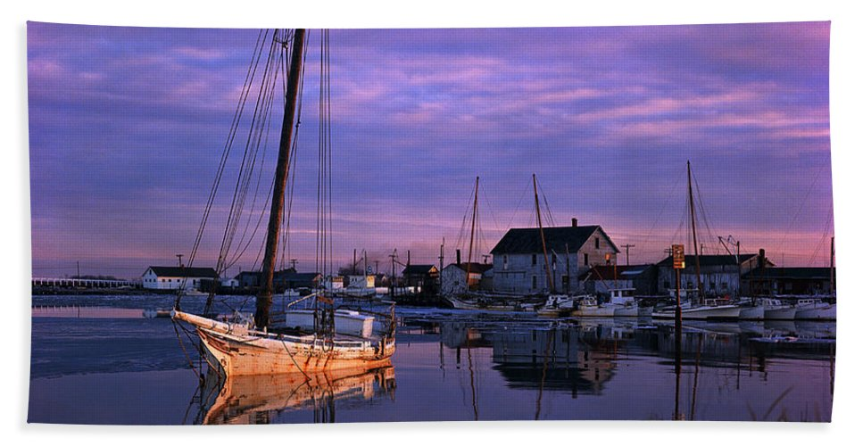 Skipjack Beach Towel featuring the photograph Skipjack by James L. Amos