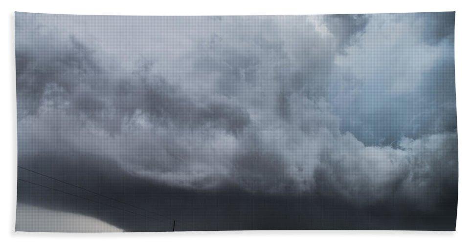 Tornado Beach Towel featuring the photograph Sky Meets Earth by Brandon Sullivan