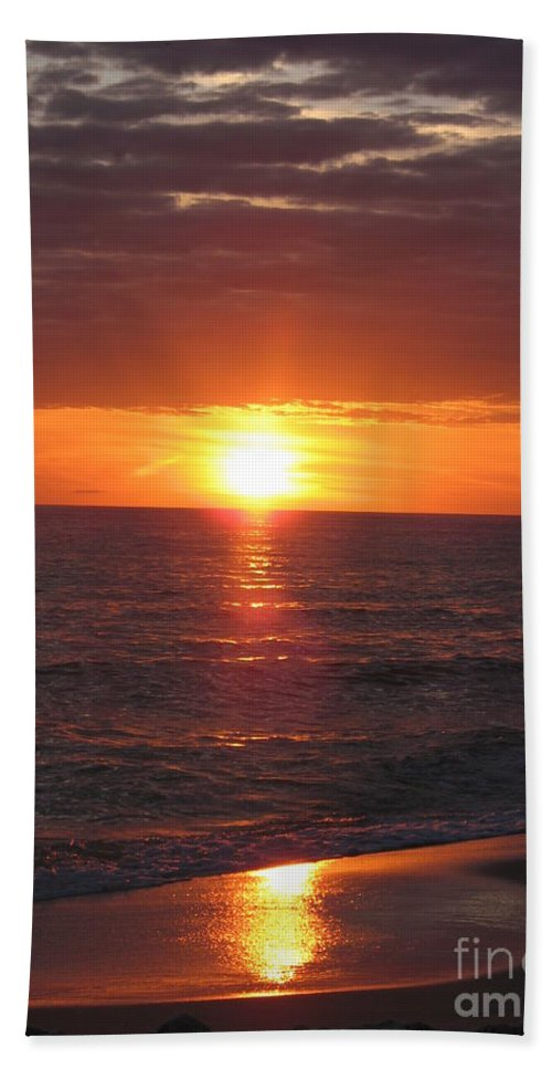 Sunset Beach Towel featuring the photograph Sky On Fire I by Christiane Schulze Art And Photography