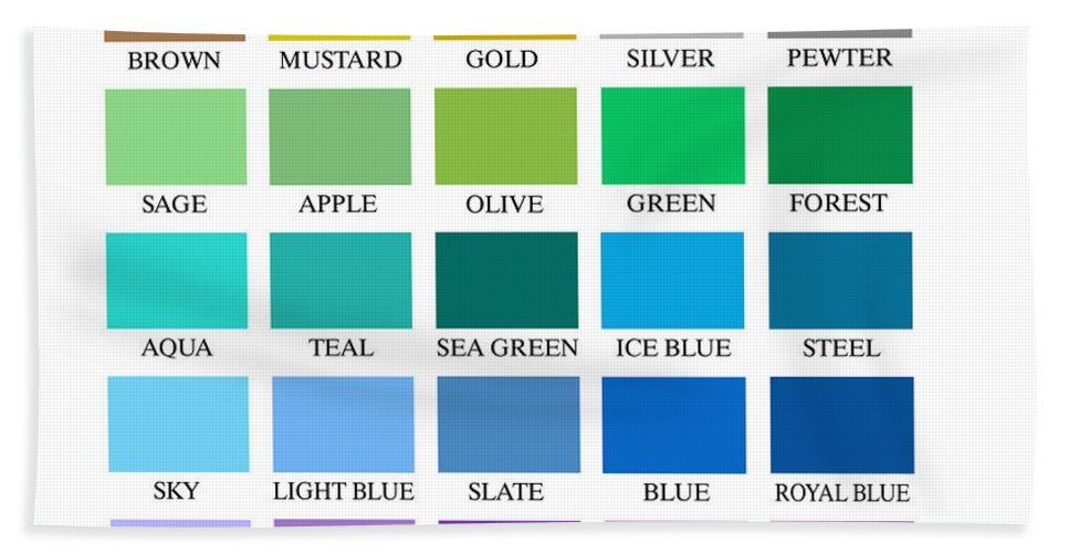 Skyline Series Color Chart Beach Sheet For Sale By Db Artist
