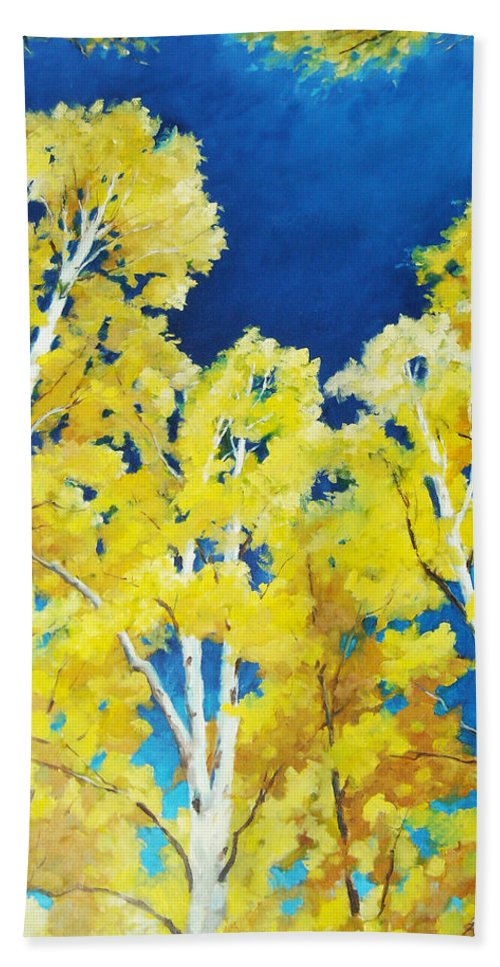 Sky Beach Towel featuring the painting Skyward by Richard T Pranke