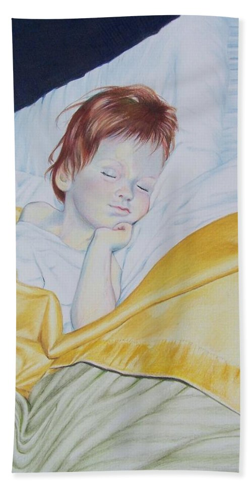 Baby Beach Towel featuring the mixed media Sleeping Beauty by Constance Drescher