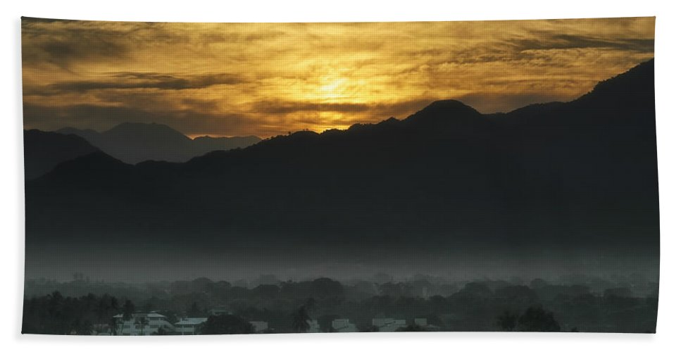 Mexico Beach Towel featuring the photograph Sleeping City by Belinda Greb