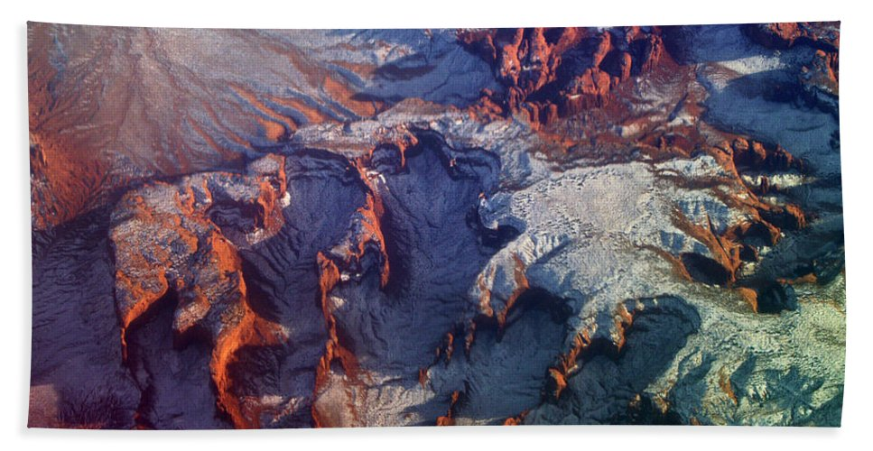 Canyons Beach Towel featuring the photograph Slickrock Amphitheaters by Jeremy Rhoades