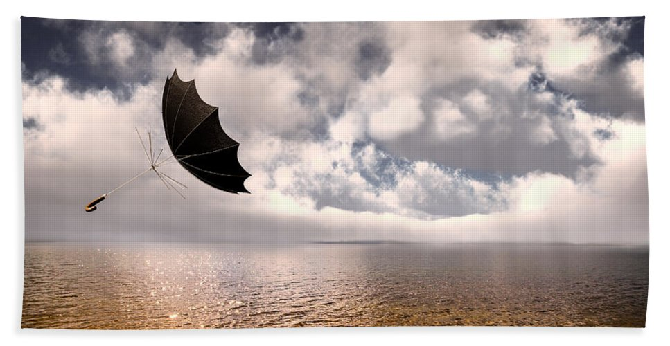 Umbrella Beach Towel featuring the photograph Slight Chance Of A Breeze by Bob Orsillo