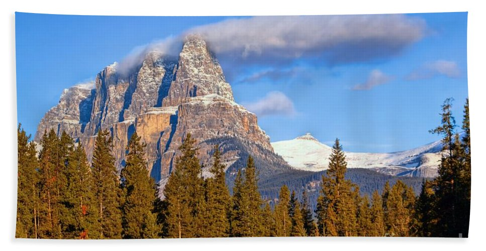Banff National Park Beach Towel featuring the photograph Smoke Stack by James Anderson