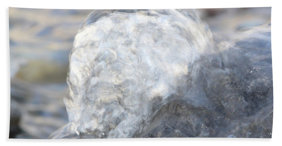 Water Beach Towel featuring the photograph Smokey Water by Brent Dolliver