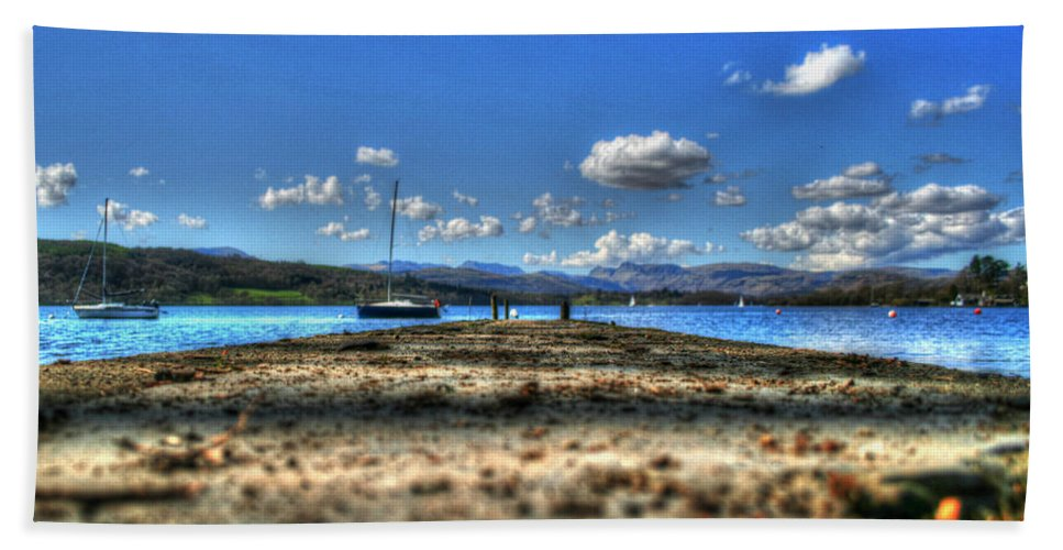 Boat House Beach Towel featuring the photograph Snails Pace by Doc Braham