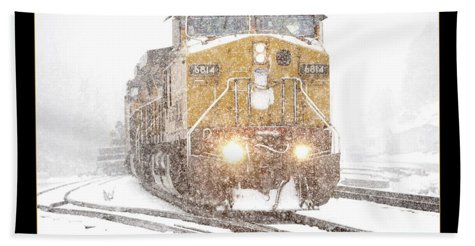 Snow Beach Towel featuring the photograph Snow by Daniel Troy