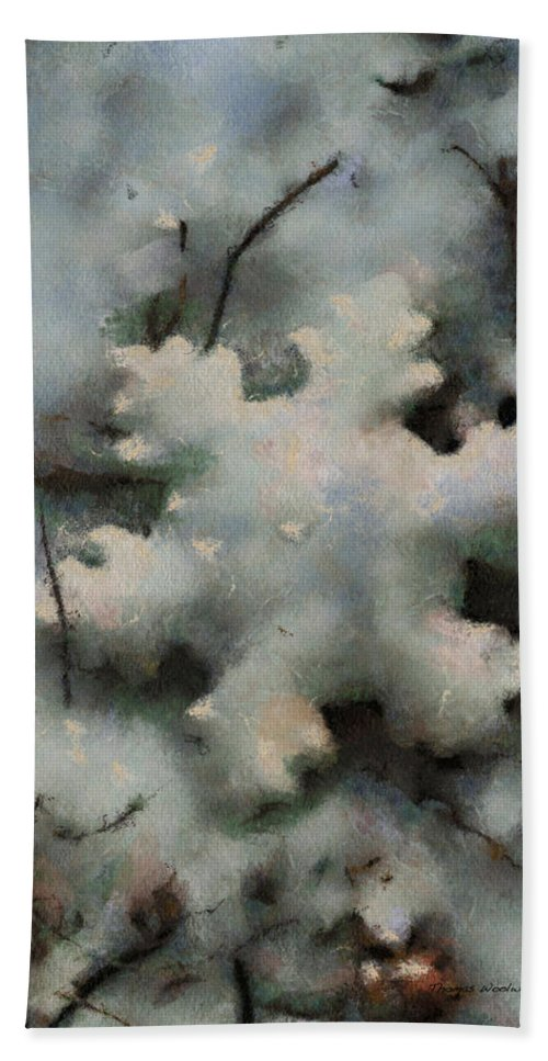 Season Beach Towel featuring the photograph Snow Flake 03 Photo Art by Thomas Woolworth