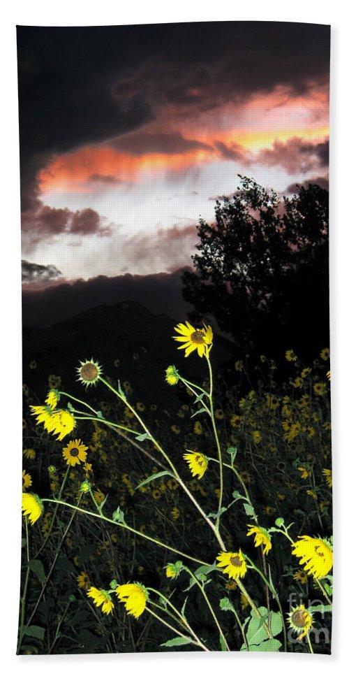 Sunset Beach Towel featuring the photograph Socorro Sunset by Steven Ralser