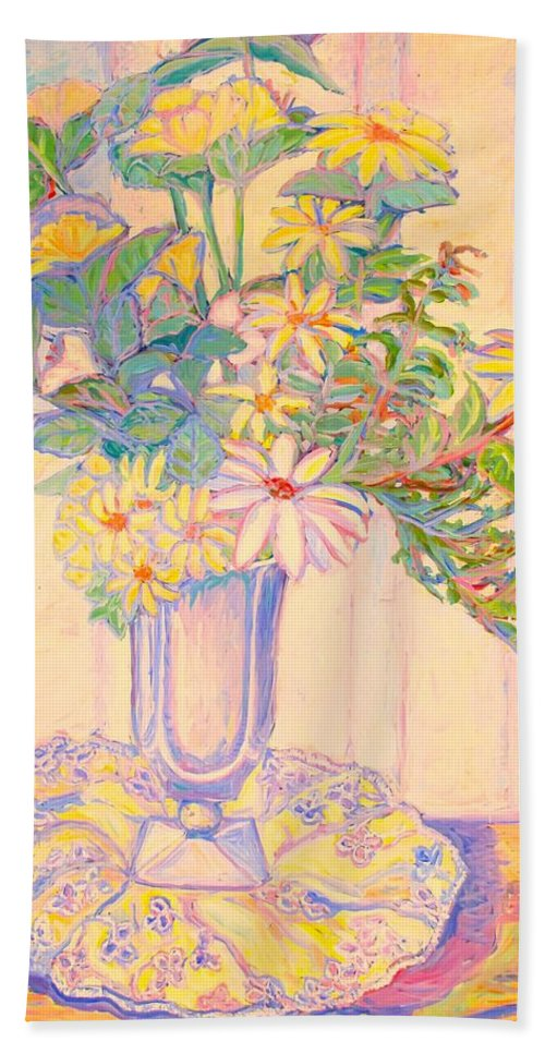 Flowers Beach Towel featuring the painting Soft Light by Kendall Kessler